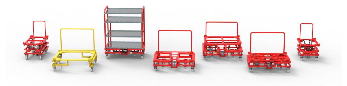 wozki do transportu komponentow dla produkcji wamech
