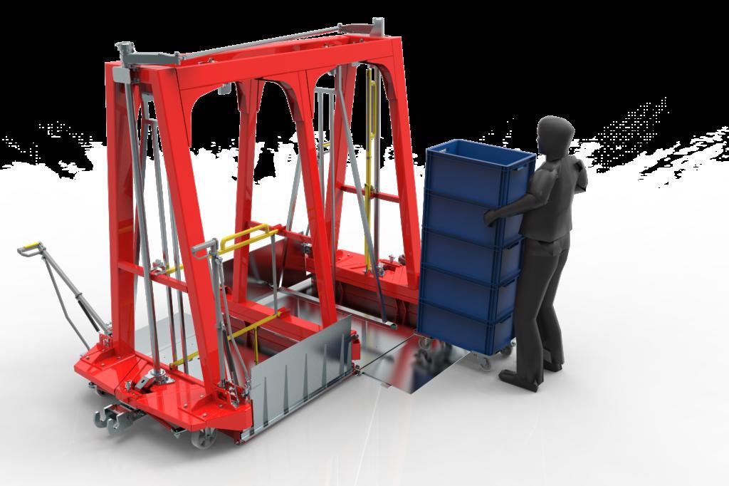 wydajny transport pojemników klt wamech