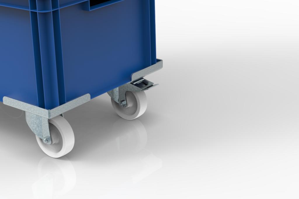 wozki do transportu pojemników KLT wamech